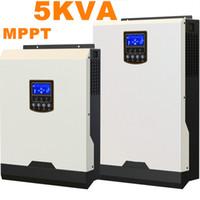 Круто ! Солнечный инвертор 5Kva 4000W Off инвертор сетки 48V до 220V 60A MPPT Инверторы Чистая синусоида Гибридный инвертор 60A AC зарядное устройство