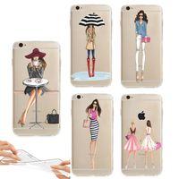 For iphone 7 Soft Case Transparent Soft TPU Ultra Thin Fashi...