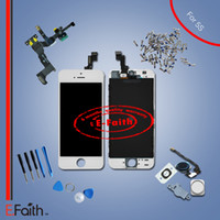 Pour l'iphone 5s plein complet blanc écran LCD avant affichage numériseur Assemblée livraison gratuite