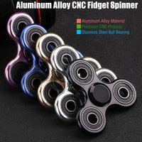 Nouveau Fidget Spinner Toy Triangle Hand Spinners Alliage d'aluminium CNC Torqbar Stainless Bearing EDC Finger Tips Rotation décompresser HandSpinner
