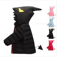 Kids Monster Winter Down Jacket Dinosaurs Hooded Coat Fashio...