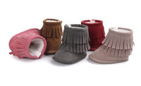 24 pairs lot(can mix colors and sizes)INS Tassel baby boots ...