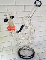 Nouvel arrivage verre Recycler pétrolier verre bong eau pipe dab rigs fête fournitures pneu style et 3 nids d'abeilles 14,4mm joint