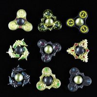 9 couleurs King Glory HandSpinner Game Alliage Tri-Spinners Doigts Spirale Fingers Gyro Torqbar Fidget Spinner Jouets de décompression OOA1472