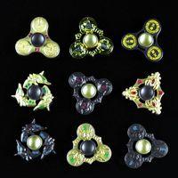 9 colores King Glory HandSpinner Juego de aleación Tri-Spinners dedos de los dedos en espiral Gyro Torqbar Fidget Spinner Juguetes de descompresión OOA1472