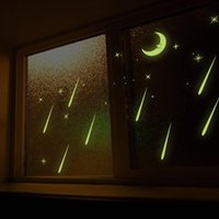 Noctilucent Luminous Window Stickers Kids Room Moon And Star...