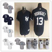 Stitched Men Adult New York Yankees #13 Alex Rodriguez White...
