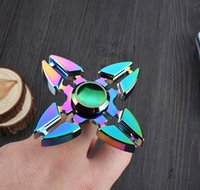 Colorful Rainbow Fidget Spinner EDC Toy Hand Spinner Finger HandSpinner pour la décomposition Anxiety Metal EDC Hand Spinner Toys