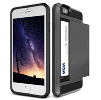 Card Slot Case For iPhone 7Plus Hybrid Armor V- erus Cover fo...