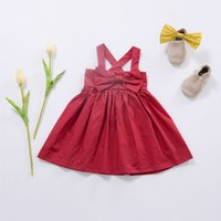 Trolls Dress robe mariage fille solid red colour bow newborn...