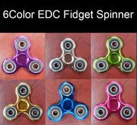 Nouveau 6-couleurs Fidget Spinner électroplate Color Hand Spinner Plastique EDC Pour Autisme Et TDAH Jouets Enfants Tri-Spinner Fidget Toy HandSpinner