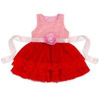 7 Colors Baby Girls Lace Dress 2017 Summer 0- 6T Kids Girl Tu...