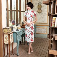 Chinese Style Dress Long Summer New Flax Manual Button Bigge...