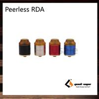 Geekvape Peerless RDA Tank Design de la plate-forme de construction originale Creative Build Deck Système d'air latéral à 9 trous Les deux bobines simple et double 100% origina