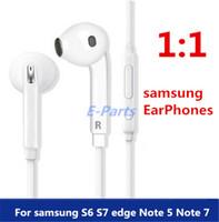 Écouteurs intra-auriculaires avec Microfone 3.5mm contrôle du volume écouteurs de sport pour Smart Phone Samsung S6 Edge I9800 S4 S5 MP3 par Fast DHL