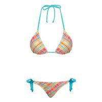 Hot Fashion Sexy Lace Bikini Beachwear Set Plaid Two Piece T...