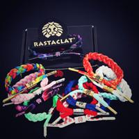 24 couleurs Rastaclat Galaxy cravate Bracelet Wristband réglable Cravates 16CM 100% POLYESTER Braided Couple Sport Balance Bracelets