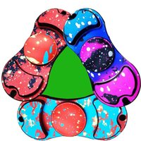 Camouflage Fidget Spinner Coloré main Spinner Ginger doigt Retro Camo EDC Spinner décompression Anxiety Toys 3 styles OOA1359