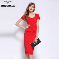 TINDERALA women 2017 summer vintage casual work wear office ...
