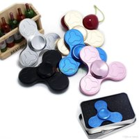 Newest EDC Triangle Tri- Spinner Fidget Toys Hand Spinner Alu...