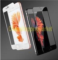 Nouveau vendant 3D curvées avant glacé verre trempé pour iPhone 6 6S 7 Plus plein couvert 9H Soft carbone fibre bord écran protecteur