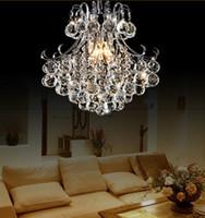 Роскошный кристаллический светильник Крытый подвесной светильник Потолочный светильник кристалл кулон Люстра лампы диаметром 33см / 45см / 55см