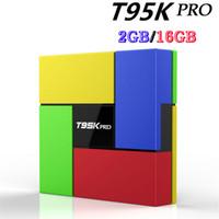T95K PRO Amlogic S912 TV box Octa Core Android 6. 0 KODI Dual...