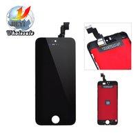 Meilleur A +++ qualité couleur noir et blanc pour iphone 5 5S 5C lcd écran tactile écran digitizer assemblage livraison gratuite