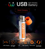 2Pcs set Creative USB AA Battery Rechargeable Battery 1. 5V 1...
