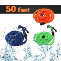 ¡Acción de los EEUU! 50 pies de látex que amplía la manguera flexible del agua del jardín con los colores de la boquilla 3 del aerosol que envían libremente