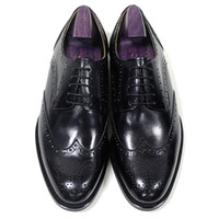 Men Dress shoes Oxfords shoes Custom Handmade shoes Round to...