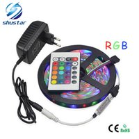5M SMD 3528 RGB Flexible LED Strip light 60LEDs   M + 24Key ...