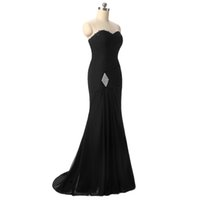 New Designer Mermaid Black Evening Gowns 2017 Sweetheart Chi...