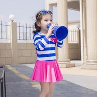 Everweekend Girls Stripes Patchwork Spring Summer Swim Wear ...
