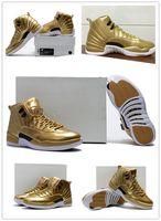 High Quality Retro 12 Metallic Gold Men Basketball Shoes 12s...