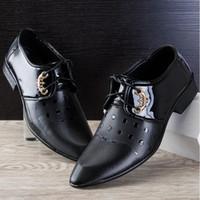 Fashion Classical Men Dress Wedding Flat Shoes Men' s Bu...