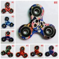 Leopard Camouflage Hand Spinner 13 Couleurs American Flag Printing Fidget Spinner HandSpinner Doigts Spirale Fingers Gyro 300pcs OOA1388