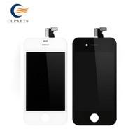 AAA Remplacement pour Apple iPhone 4 Lcd Affichage LCD Numériseur écran tactile Assemblée Aucun Dead Pixel Noir / Blanc Expédition rapide