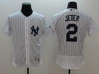 2016 Flexbase Stitched Baseball Jerseys Yankees #2 Derek Jet...