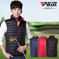 Golf Clothes Men' s Down Jacket Coat Double Thin Down Ve...