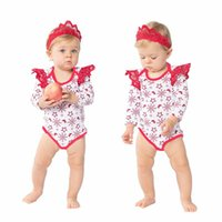 Baby Girls Christmas Rompers Sets 2017 Hot Newbown Lace Jump...