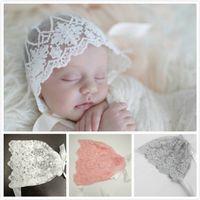 New Baby Newborn Lace Bowknot Caps Hats Girls Princess Belt ...