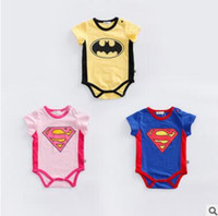 Baby Romper 2017 Summer Cartoon Superhero Romper Outfits Jum...