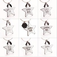 9pcs lot exo star keychain  key ring free shipping