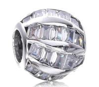 2017 Ressort Vague Cristal Charme Pour Pandora Bracelet DIY Bead Charm bijoux en argent sterling