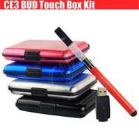 Top CE3 BUD Touch Coloré Boîte Kit 510 Cartouche CBD THC Huile Vaporisateur Atomiseur O Pen vapeur Épais Waxy vape Mini cartomiseurs WAX Réservoir DHL