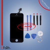 Ecran LCD tactile numériseur Full Assembly pour Black iPhone 5S pièces de rechange de réparation avec des outils