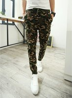 Wholesale- Spring Mens Joggers Sweatpants Army Camouflge Camo...