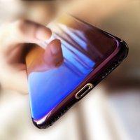 Luxury Gradient Blue Light Ray Case For iPhone 7 6 6s Plus U...