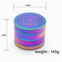 Metal Zinc Alloy Tobacco Grinder Colourful 4 Pieces Spice Gr...